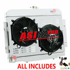 3 ROW Radiator+Shroud+Fans For 1976 86 Jeep CJ5 CJ6 CJ7 38L 42L 50L AT MT PRO