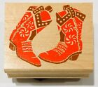 1995 Posh Impressions Rubber Stampede 2x2 Stamp Z702E Stampin Boot