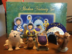 Alaskan Nativity Set 7 Piece Resin Igloo