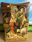 Nativity Scene Picture to Hang On Wall Or Set On Table Baby Jesus Mary Christmas
