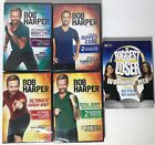 LOT OF 4 NEW BOB HARPER WORKOUTS  1 OPEN BIGGEST LOSER WORKOUT MIX