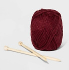 Wild Fable Knit-Your-Own Beanie Kit Maroon
