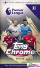2018 2019 Topps CHROME Premier League Soccer Factory Sealed HOBBY Box-AUTOGRAPH