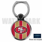 SAN FRANCISCO 49ERS CUSTOM ROUND CELL MOBILE PHONE RING HOLDER STAND FREE SHIP
