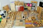 Rubber Stamp Lot Of Mixed Rubber Foam Clear Stamp Ink New  Used 224 Pieces