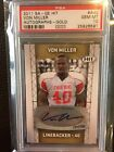 2011 SAGE Hit GOLD # 250 Von Miller #A40 Rookie Auto PSA 10 low pop