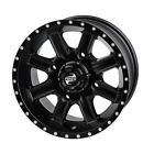 4/156 Tusk Cascade Wheel  Matte Black Rear - Fits: Yamaha RAPTOR 250R 2011