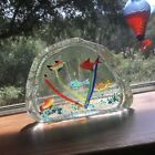 Vintage Murano Five Fish Aquarium Sculpture Paperweight