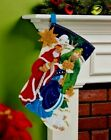 Bucilla 3 KINGS HOLY NATIVITY Felt Christmas Stocking Kit FD OOP NEW VERY RARE