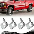 4 X Silver Texture Coated DIE CAST Aluminum SUV Truck Pickup Nerf Side Step Bar