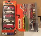 Matchbox Fire Vehicles Set lot x2 One 5 Pack and Adventure Pack Fire Rescue