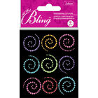 Crafts Jolees Stickers Small Bling Gems Colorful Swirls Pink Purple More