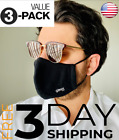 3 PACK Premium Face Mask Reusable Washable  Adjustable Multiple Layers