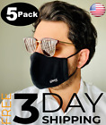 5 PACK Premium Face Mask Reusable Washable  Adjustable Multiple Layers