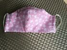 Pretty in Pink Butterflies FabrIc Face Mask Adjustable Nose Comfy