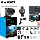AKASO V50X Native 4K 30fps WiFi Action Camera with 2 Touch Screen 131 Feet
