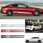 2pcs Car Graphics Side Body Door Decoration Sticker Long Stripe Vinyl Decals Diy