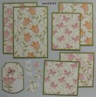 Premade Mat Set Scrapbook Pages Pieces SEWN Floral Paper Crafts Mats Tag pack890