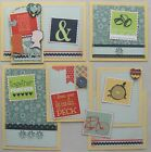 Premade Mat Set Scrapbooking Pages Pieces Family Kids SEWN Paper Crafts pack890