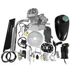 50cc 2 Stroke Gas Engine Motor Kit Motorized Bicycle Bike Silver Single Cylinder
