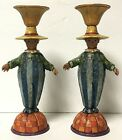 Jim Shore Heartwood Creek Scarecrow Taper Candle Holder Pair 4008113 Halloween