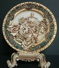 Renaissance Nativity Scene Sculpted Resin 8 3D Plate with Stand
