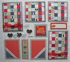 Premade Mat Set Scrapbook Pages Pieces Kit SEWN BBQ Grilling Food Family pack890