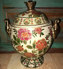 Vintage Asian Handpainted Vase Compote Porcelain