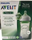 Philips Avent Natural 8oz Glass Baby Bottles Wide Neck 4 count FREE SHIPPING