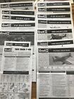 Model Kit Lot of Instruction Manuals - For Revell Model Planes.