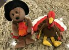Ty Beanie Babies - Lot of  2 Thanksgiving Themed - Plymouth and Gobbles