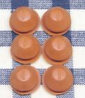 6 New Replacement Salt Pepper Shaker Stopper Plug Red Rubber Fits 3 8 Opening