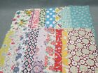 Vintage Variety LOT 18 Feedsack Fabric Pieces for Quilting 5 x 10