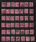 HICK GIRL OLD USED US STAMPS PAGE FULL FANCY CANCEL ISSUES  F999
