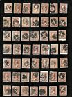 HICK GIRL OLD USED US STAMPS PAGE FULL FANCY CANCEL ISSUES  F1000