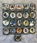 21 Vintage MINI Ted DeGrazia Collector Plates + Stands Native Miniature
