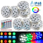 8Piece Waterproof Underwater Led Light with remote for Swimming Pool Hot tube A+