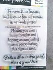 Scrapbookcom In Our Hearts Forever sentiments NEW photopolymer stamp 3 sayings