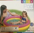 Intex Sunset Glow Inflatable Colorful Baby Swimming Pool 34x10