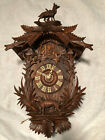 ANTIQUE BLACK FOREST CUCKOO CLOCK WITH CHAMOIS AND DOG.. GK MOVEMENT