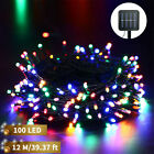394ft 100 LED Solar Powered String Lights Fairy Garden Decor Outdoor Waterproof