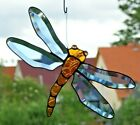 Stained Glass Leaded Glass Window Mural Faceted Dragonfly Sun Catcher IN