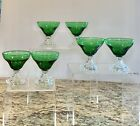 Set Of 6 Anchor Hocking GREEN BOOPIE Burple Sherbet Champagne Glasses 3.75