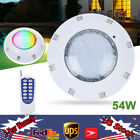 12V 54W RGB Swimming Pool LED Lights Spa Underwater Light IP68 Waterproof Lamp
