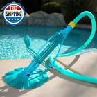 Automatic Suction Swimming Pool Vacuum Cleaner Above In Ground Complete Hose Set