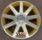 """R167DGY YOURS for Ours AUDI TT S3 4X 18"""" GENUINE GOLD DIAMOND CUT ALLOY WHEELS"""