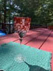 Ajka Dragonfly Crystal Wine Glass Stem Ruby Red priced per stem Qty 9 Available