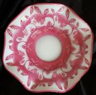 FENTON Pink  White Cameo Connoisseur Collection RICARDO DELANEY Bowl LIMITED ED
