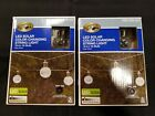 2 NEW Sets Hampton Bay 10 Bulb Solar LED Crackle Glass Ball 12 String Lights
