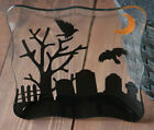 Halloween Glass Plate Spooky Party by Tag Graveyard Silhouette 85 inch